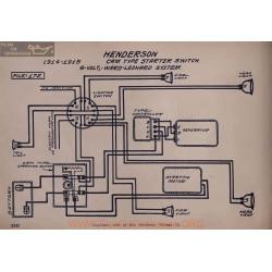 Henderson Cam Starter Switch 6volt Schema Electrique 1914 1915 Ward Leonard