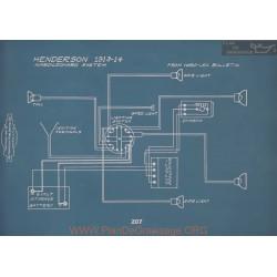 Henderson Schema Electrique 1913 1914 ver2