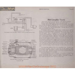 Caterpillar Holt Tractor 6volt Schema Electrique 1919 Plate 209
