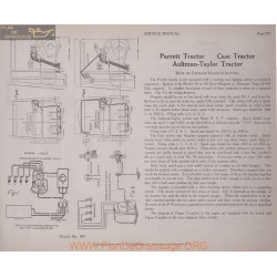 Parrett Tractor Schema Electriqe 1919 Plate 192