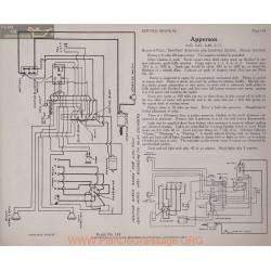 Apperson 4 40 6 45 6 48 6 17 6volt Schema Electrique 1919 Plate 143