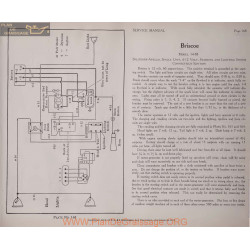 Briscoe 14 38 6volt 12volt Schema Electrique 1919 Splitdorf Plate 168