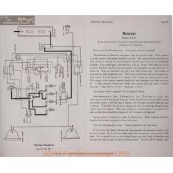 Briscoe B 4 24 6volt Schema Electrique 1919 Autolite Plate 38