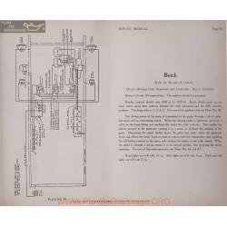 Buick B24 25 36 37 6volt Schema Electrique 1914 Delco Plate 96