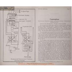 Cunningham 6volt Schema Electrique 1919 Westinghouse Plate 172 176