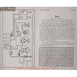 Davis 6j 6volt Schema Electrique 1917 1918 1919 Delco Plate 106
