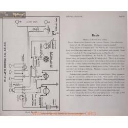 Davis C38 6e 6g 6volt Schema Electrique 1916 Delco Plate 104
