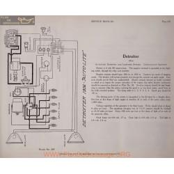 Detroiter Model 1916 6volt Schema Electrique 1916 Autolite Plate 207