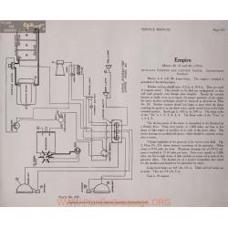 Empire 40 45 60 6volt Schema Electrique 1916 Autolite Plate 233 233a