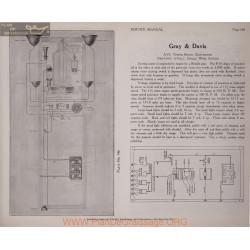 Gray & Davis A75 6volt Schema Electrique 1919 Plate 146