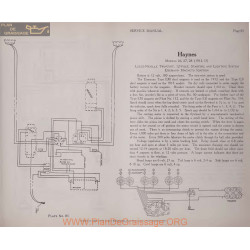 Haynes 26 27 28 12volt Schema Electrique 1912 1913 Plate 85