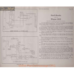Herff Brooks 12volt Schema Electrique 1915 1916 Splitdorf Plate 165