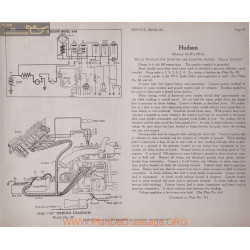 Hudson 16 40 6volt Schema Electrique 1916 Delco Plate 70