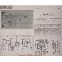 Jones Motor Schema Electrique 1919 Gray & Davis T S Y Plate 198