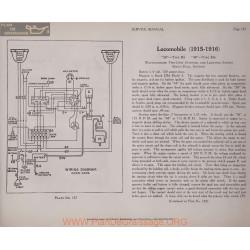 Locomobile 38 R6 48 M6 6volt Schema Electrique 1915 1916 Westinghouse Plate 137 137a