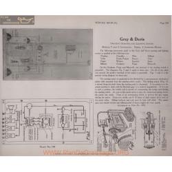 Meteor Motor Schema Electrique 1919 Gray & Davis T S Y Plate 198