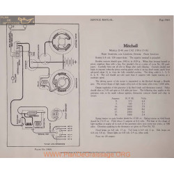 Mitchell D40 C42 6volt Schema Electrique 1916 1917 1918 Remy Plate 246a