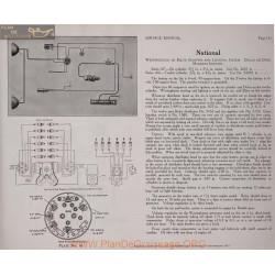 National 6volt Schema Electrique 1919 Westinghouse Bijur Plate 16