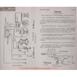 Oakland 32b 34 6volt Schema Electrique 1917 Delco Plate 43