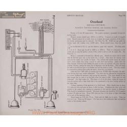 Overland 85b Four 6volt Schema Electrique 1917 1918 1919 Autolite Plate 196