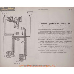 Overland Light Four And Country Club 6volt Schema Electrique 1919 Autolite Plate 50