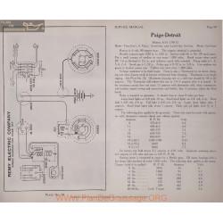 Paige Detroit 6 51 6volt Schema Electrique 1917 Remy Plate 59
