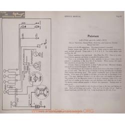 Paterson 6 42 6 45 45r 6volt Schema Electrique 1916 1917 Delco Plate 83