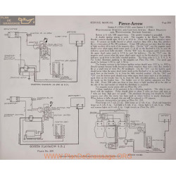 Pierce Arrow 4 5 6volt Schema Electrique 1916 1917 1918 Westinghouse Plate 204 205