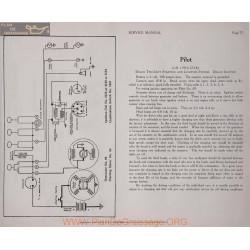 Pilot 6 45 6volt Schema Electrique 1916 1917 1918 Delco Plate 77