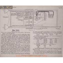 Reo R M 6volt Schema Electrique 1915 Remy Plate 139