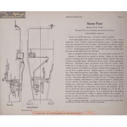 Saxon Four B5r B6r 6volt Schema Electrique 1919 Wagner Plate 25
