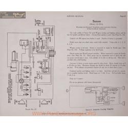 Saxon S2 6volt Schema Electrique 1916 Wagner Plate 23
