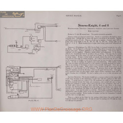Stearns Knight 4 8 Two Unit Schema Electrique 1919 Westinghouse Plate 6