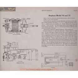 Stephens 70 75 6volt Schema Elctrique 1919 Delco Plate 20