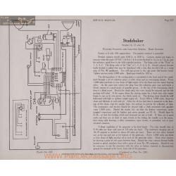 Studebaker 16 17 18 6volt Schema Electrique 1919 Wagner Plate 227 227a