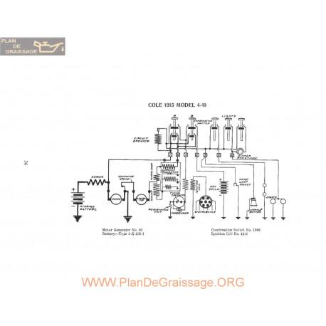 Cole 4 40 Schema Electrique 1915 P1