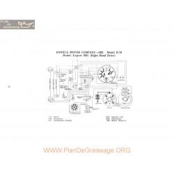 Daniels Motor Export D19 Schema Electrique 1921