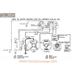 Davis Motor 6h 6k 6i Schema Electrique 1917