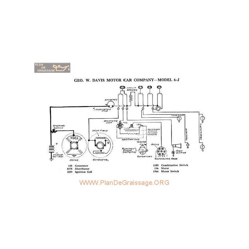 davis motor j6 schema electrique 1918