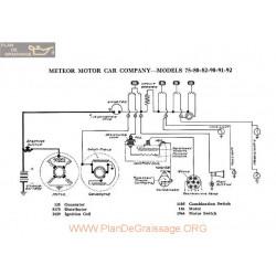 Meteor Motor 45 80 82 90 91 92 Schema Electrique 1918