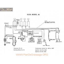 Olds 44 Schema Electrique 1916
