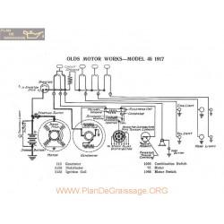 Olds Motor 45 Schema Electrique 1917