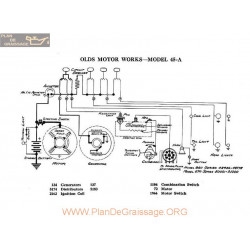 Olds Motor 45a Schema Electrique 1918