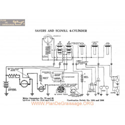 Sayers & Scovill 6cylinder Schema Electrique 1916