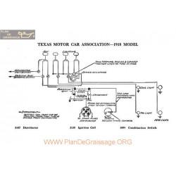 Texas Motor Schema Electrique 1918