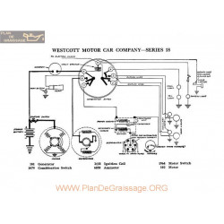 Westcott Motor 18 Schema Electrique 1918