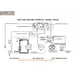 Nash Motor Truck Schema Electrique 1918