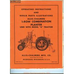 Allis Chalmers 1 Row Combination Planter Tm 390001 Manual