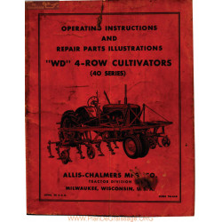 Allis Chalmers 40 Series 4 Row Cultivator Manual