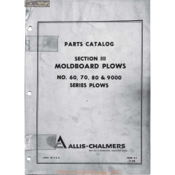 Allis Chalmers Ac 60 70 80 9000 Moldboard Plows Manual